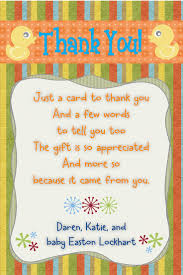 Thank You Note Size Baby Shower Thank You Note Duck Theme Size 4x6 Contact Me Your