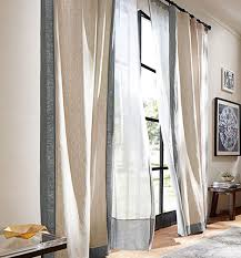 Office drapes Classic Emery Linencotton Pottery Barn Curtain Styles Types Of Curtains Pottery Barn