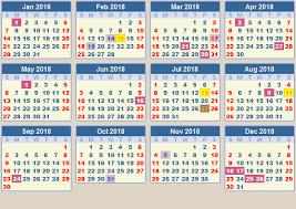 south africa calendar 2018