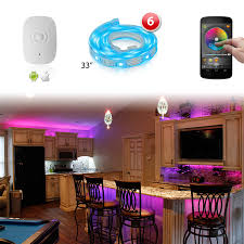 iphone controlled lighting. 6pc XKGLOW XK SILVER App WiFi Controlled Home Interior Fruniture Flexible Ultra Slim Neon Accent Light Kit Iphone Lighting