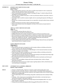 Customer Service Manager Resume Sample Client Services Manager Resume Samples Velvet Jobs 17