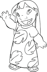 Lilo And Stitch Coloring Page Lilo Stitch Coloring Pages And