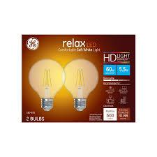 Speaker Light Bulb Lowes Ge Relax 60 Watt Eq Soft White Dimmable Light Bulbs 2 Pack