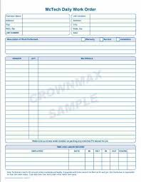 2250 Daily Work Order 1pt Crownmax Com