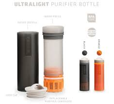 portable water filter bottle. Grayl\u0027s Ultralight Bottle Comes In Black Or Orange Through Its Kickstarter Campaign. (Grayl. Portable Water Filter