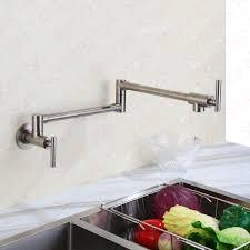 Kitchen Pot Filler Faucets Aliexpresscom Buy Wall Mount Alba Black Pot Filler Kitchen