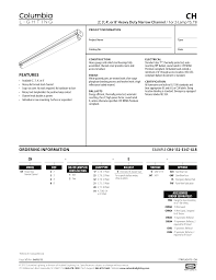 Columbia Lighting W4 Example Ch4 132 E347 Glr Features Ch Ordering Information E