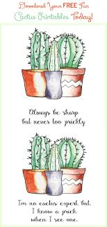 More Printables Download Your Free Fun Cactus Printables Today
