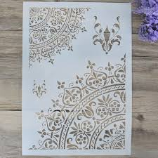 Wall Painting Paper Design Us 1 99 A4 A3 A2 Diy Craft Mandala Stencil For Wall Painting Scrapbooking Stamping Album Decorative Embossing Paper Card Flower Template In Cutting
