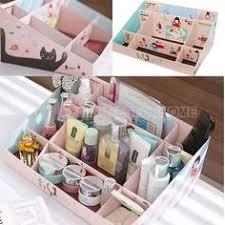 durable paper diy cosmetics makeup storage box conner case stuff organizer