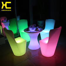 outdoor garden stool. Rechargeable Home Furniture Plastic Outdoor Garden Stool Remote Control Cordless Set LED Illuminated Dining Room R
