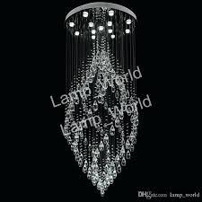 crystal chandeliers pendant lamp spiral light chandelier led suspension lighting hotel lobby lounge sputnik crystal spiral chandelier