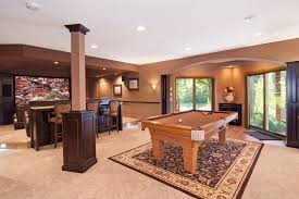 minneapolis Entertainment Room Bar basement traditional with home
