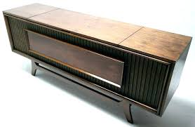 record player cabinet vinta console mid century modern stereo am plans