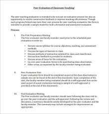 9 Peer Evaluation Form Sample – Free Examples & Format | Sample ...
