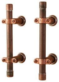 industrial cabinet pulls. Industrial Copper Cabinet Handle And Drawer Pulls Nine Twenty With