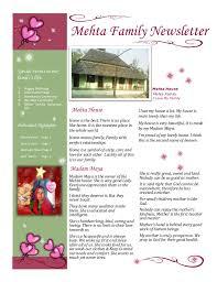 family newsletter mehta family newsletter