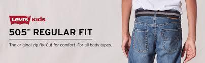 Levis Husky Jeans Size Chart Boys 4 20 Levis 505 Regular Fit Jeans In Regular Slim Husky