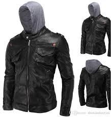 menvs high quality leather coat menvs jacket pu leather motorcycle jacket hooded coat parka men fashion coats and coats men jacket types from tassed8