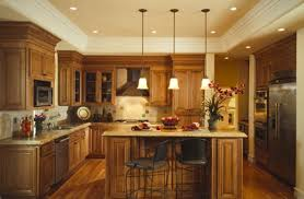 ... Exquisite Kitchen Lighting Marvelous This Kitchen Island Is Lighted  With Low Hanging Pendant Lights With An Inspiring Ideas ...