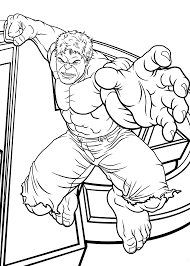 Hulk Jumps Coloring Pages For Kids