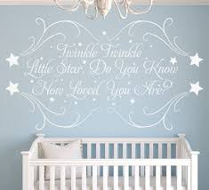 twinkle little star personalised nursery wall sticker on personalised wall art stickers quotes with twinkle little star wall art sticker personalised wall sticker