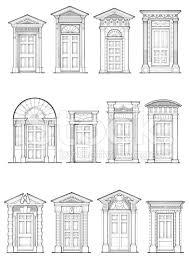 front door drawing. A Selection Of Georgian Front Door Details Drawing