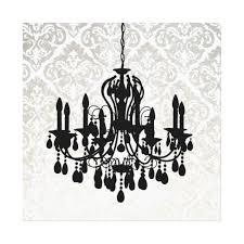 chandelier silhouette metallic damask backdrop canvas print