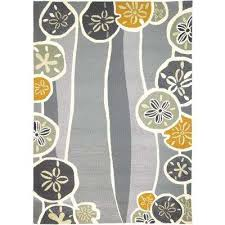 beachcomber neutral gray 5 ft x 7 ft indoor outdoor area rug