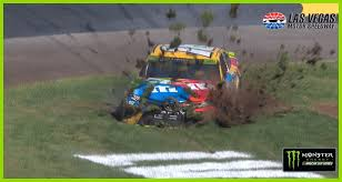 Kyle Busch goes for wild ride through the grass | NASCAR.com