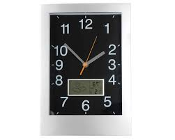 11 rectangular wall clock lcd weather