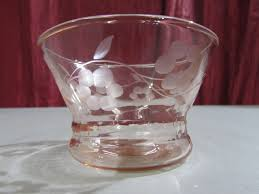 pink depression glass dessert cups