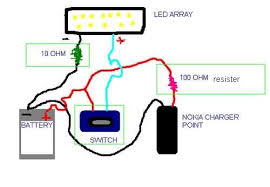 low cost led light using old mobile battery 8 steps connect every thing as shown in circuit