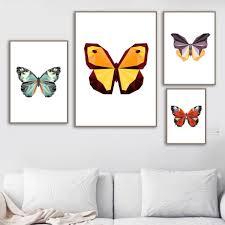 Cartoon Butterfly <b>Wall Art Canvas</b> Print – Lewe Decor