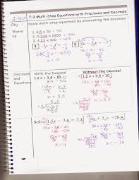7 3 multi step equations with fractions and decimals