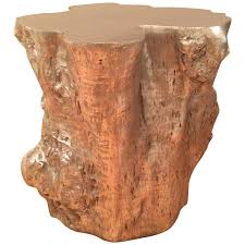 tree trunk furniture for sale. Contemporary Silvered Resin Tree Trunk Form Side Table For Sale Tree Trunk Furniture For Sale
