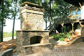 outdoor stone fireplace kits kit for
