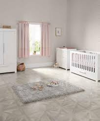 Nursery white furniture Baby Girl Mamas Papas Franklin Cot Bed Piece Nursery Furniture Set White Mamas Papas