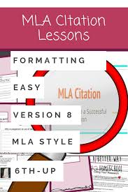 Mla Format Citation Lessons Your Kids Will Love These Mla Citation