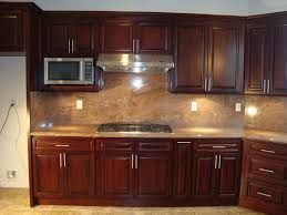 Modern Cherry Kitchen Cabinets Kitchen Contemporary Kitchen Backsplash Ideas With Dark Cabinets