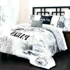 black and white patterned comforter