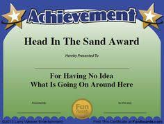 Funny Awards At Work 115 Best Funny Office Awards Images Employee Awards Funny
