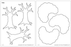 Small Picture Tree Printable Templates Coloring Pages FirstPalettecom