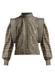 gucci crystal embellished leather jacket