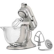 Designer Kitchen Aid Mixers Kitchenaid Artisan Designer 5 Qt Sugar Pearl Silver Stand Mixer