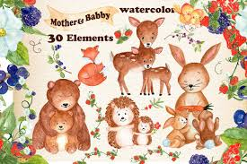 mother and baby animal clipart. Unique Animal Mother And Baby Animals Clipart Example Image 1 In And Baby Animal Clipart E