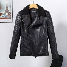 2018 new high quality men s leather jacket men s collar lead wash pu leather jacket p3091