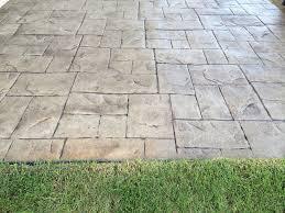 stamped concrete patio edmonton walnut