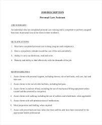 Personal Assistant Job Description Resume Sample Of Personal Resume  Assistant Job with Error Analysis In Thesis