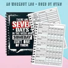 Details About A6 Exercise Gym Pocket Sized Works With Diet Weight Loss Record Diary 7 Day
